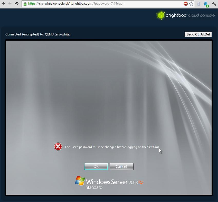 windows server set user password